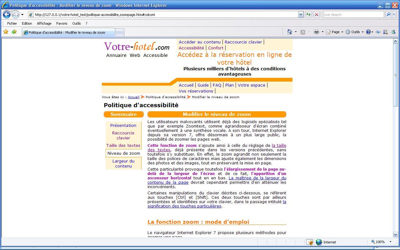 Politique D Accessibilite Maitriser La Largeur Du Contenu De La Page